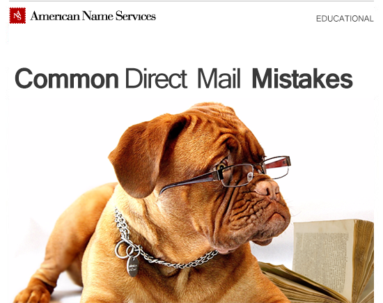 Common Direct Mail Mistakes